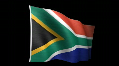 South Africa Flag B Stock Footage