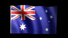 Australia Flag C Stock Footage