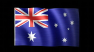Australia Flag C Stock Footage
