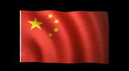 Stock Video Footage of China Flag C