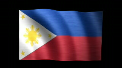 Philippines Flag C Stock Footage