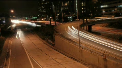 Los Angeles Night Traffic 1 Timelapse Stock Footage