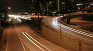 Stock Video Footage of Los Angeles Night Traffic 1 Timelapse
