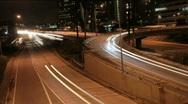 Los Angeles Night Traffic 1 Timelapse Stock Footage