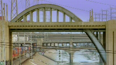 LA River Bridge Stock Footage
