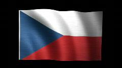 Czech Republic Flag C Stock Footage