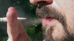 Smoking in the Garden Stock Footage