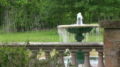 Garden fountain 2 Stock Footage