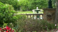Garden fountain 1 Stock Footage