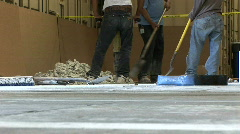 Breaking concrete Stock Footage