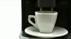 Having a Cup of Espresso Stock Footage