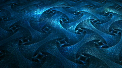 Blue chain armor Stock Footage