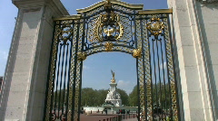 Queen Victoria Memorial through a gateway in London England - stock footage