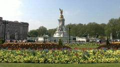 Queen Victoria Memorial in front of Buckingham Palace in London England Stock Footage