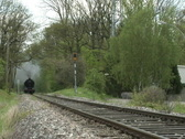 Steam train coming Stock Footage