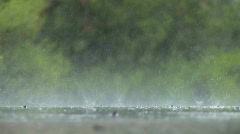 Rain hits ground Stock Footage