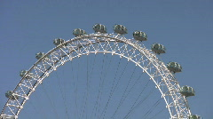 London Eye Millennium Wheel. London England  UK Stock Footage