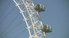 London Eye Millennium Wheel. London England UK - stock footage