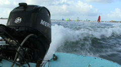 Outboard Motor - stock footage