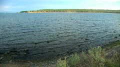 Yellowstone Lake Stock Footage