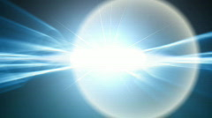 Blue Lens Flare Wipe Stock Footage