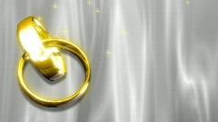 Wedding Rings Looping Background Stock Footage