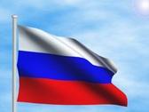 Russian flag - digital animation Stock Footage