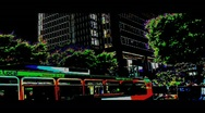 HD Surreal City Scapes Industrial Metro Transportation Stock Footage