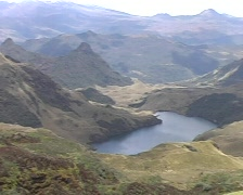 Rugged paramo scenery in the Ecuadorian Andes Stock Footage