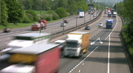 Time lapse of traffic on the M1 Motorway Northamptonshire England Stock Footage