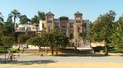 Stock Video Footage of Museo de Artes y Costumbres Populares, Seville, Spain