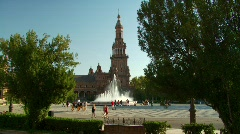Placa Espana, Seville, Spain Stock Footage