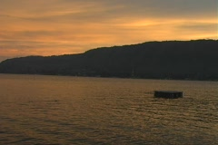 Sunset at Lake Toba Stock Footage
