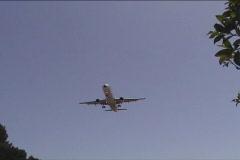 Passenger jetliner landing  Stock Footage