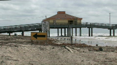 Fishing pier Bob Hall Pan rt M HD Stock Footage