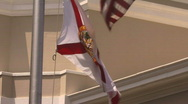 Flag Of Florida Stock Footage