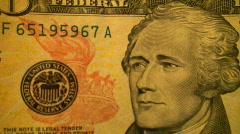 Money Dollars $1 $5 $10 $20 Macro Footage Stock Footage