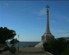 Conquest memorial Santa Ponsa, Majorca Stock Footage