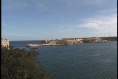 Ships Through Maltese Harbor Valetta  Stock Footage
