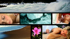 Health & Beauty Spa montage Stock Footage
