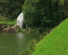 Distant Waterfall - stock footage