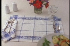 Turkey Place Setting Stock Footage