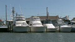 Port Aransas Marina boat passes M HD Stock Footage