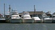 Stock Video Footage of Port Aransas Marina boat passes M HD