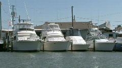Port Aransas Marina boats dock M HD Stock Footage