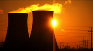 Power Pollution at Dawn Stock Footage