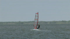 Wind surfing girl 2 M HD Stock Footage