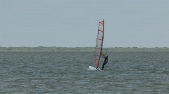Wind surfing girl M HD Stock Footage