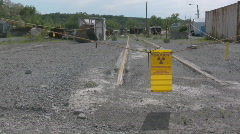 Radioactive area roped off - stock footage