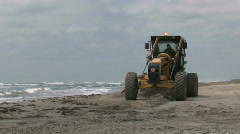 Beach grader towards view M HD - stock footage